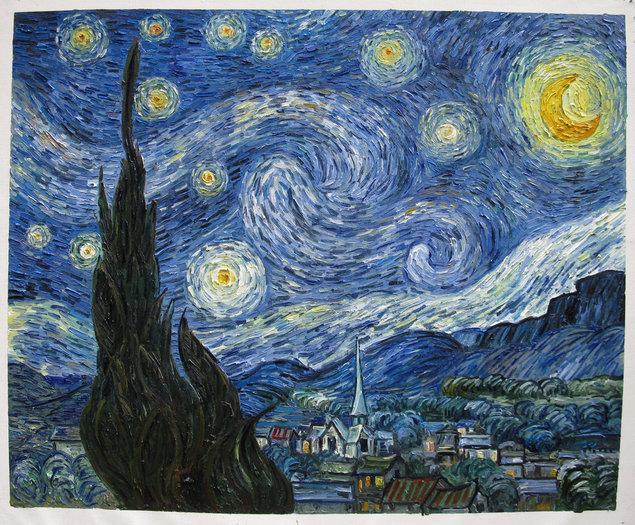 sterrennacht gogh reproductie olieverf gogh studio