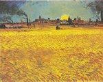 Van Gogh Reproduction Sunset: Wheat Fields Near Arles