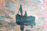 Impression, Sunrise Monet reproduction detail