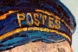Portrait of the Postman Joseph Roulin Detroit detail
