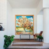 Peach Tree in Bloom Van Gogh in interior