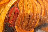 detail Two Cut Sunflowers Oil painting Reproduction