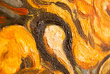 detail Van Gogh reproduction The Mulberry Tree