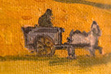 detail Harvest La Crau with Montmajour in the Background Van Gogh replica