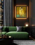 The Kiss Klimt  framed