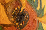 Vase with 15 sunflowers Van Gogh reproduction detail