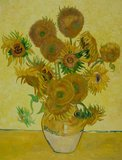 15 sunflowers reproduction