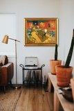 The Night Cafe in the Place Lamartine Van Gogh replica in interior