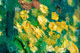 detail Trees and Undergrowth Van Gogh reproduction