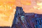 detail Landscape at Sunset Van Gogh Reproduction