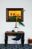Landscape at Sunset Van Gogh Reproduction framed