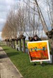 Willows at Sunset Van Gogh reproduction De Willege Waard Lopik