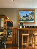 Mountains at Saint-Rémy Van Gogh reprlica framed