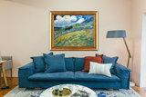 framed Mountain Landscape behind the Saint-Paul Hospital Van Gogh replica