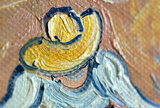 Wheat Fields with Reaper Van Gogh reproduction detail