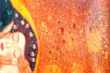 The Kiss Klimt reproduction detail