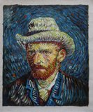 Self Portrait With Grey Felt Hat Van Gogh reproduction