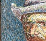 Zelfportret met Grijze Vilthoed - Beschilderde 3D Print_