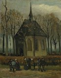 Van Gogh reproduction Congregation Leaving the Reformed Church