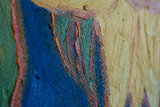 5 sunflowers oil painting replica detail