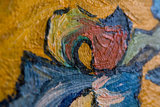 detail Vase with Irises against a Yellow Background Oil Painting Reproduction