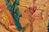 detail Willows at Sunset Oil Painting Reproduction