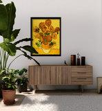 Vaas met vijftien Zonnebloemen Van Gogh reproductie, 1889_