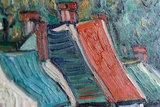 detail Houses in Auvers Van Gogh Replica