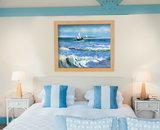 Seascape at Saintes-Maries Van Gogh reproduction framed