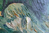 Wheat Field with Cypresses reproduction detail