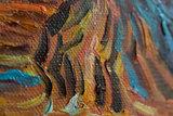 detail Olive Grove: Orange Sky Van Gogh reproduction