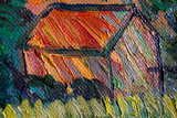 Landscape at Twilight Van Gogh Reproduction detail