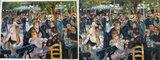 Dance at the Moulin de la Galette Renoir reproductie, geschilderd in olieverf op doek_