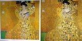 Portret van Adele Bloch Bauer Klimt reproductie, geschilderd in olieverf op doek_