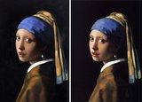 Meisje met de Parel Vermeer reproductie, geschilderd in olieverf op doek_