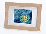 Sterrennacht mini schilderij, geschilderd in olieverf op doek_