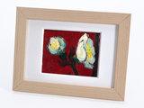 Pruimenbloesem mini schilderij, geschilderd in olieverf op doek_