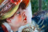 Luncheon of the Boating Party Renoir reproduction detail