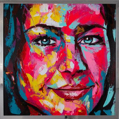 Jouw portretfoto geschilderd in de stijl van Françoise Nielly
