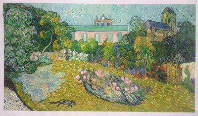 De Tuin van Daubigny Van Gogh reproductie, geschilderd in olieverf op doek