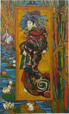 Oiran, de Courtisane Van Gogh Reproductie, 1887