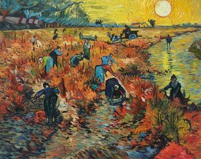 De Rode Wijngaard Van Gogh reproductie, 1888