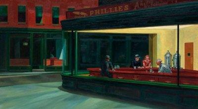 Nachtbrakers Edward Hopper reproductie, geschilderd in olieverf op doek