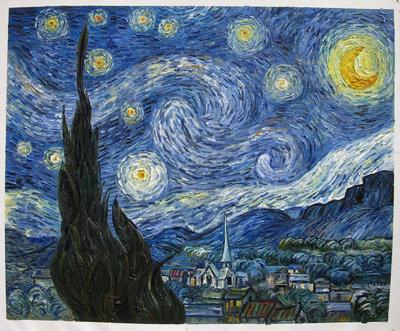 Sterrennacht Van Gogh reproductie, 1889