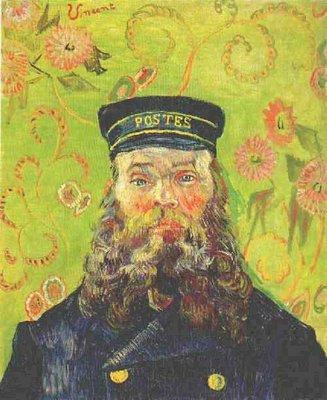 Portret van Postbode Joseph Roulin Van Gogh reproductie, 1889