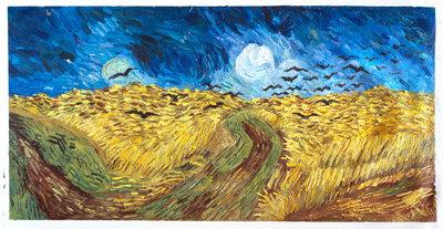 Korenveld met Kraaien Van Gogh reproductie, 1890