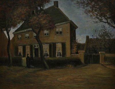 De Pastorie te Nuenen Van Gogh reproductie 1885