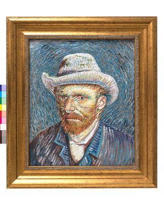Zelfportret met Grijze Vilthoed - Beschilderde 3D Print