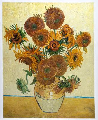 Stillleven: Vaas met vijftien Zonnebloemen Van Gogh reproductie, 1889