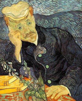 Portret van Dr. Gachet Van Gogh reproductie, 1890